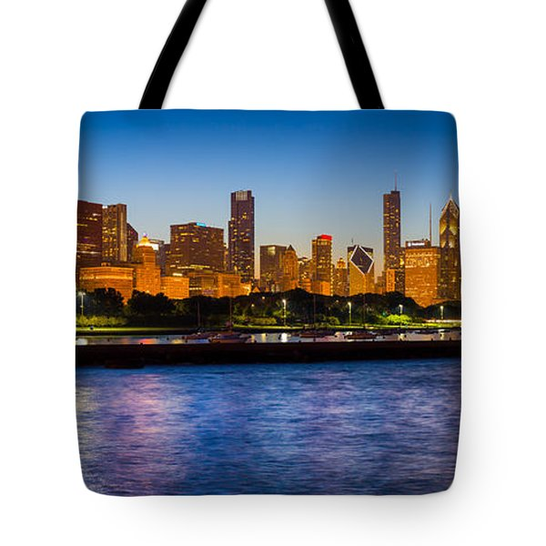 Chicago Skyline Tote Bag by Inge Johnsson