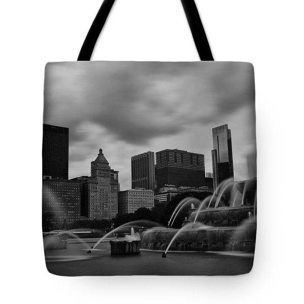 Tote Bag featuring the photograph Chicago City Skyline by Miguel Winterpacht