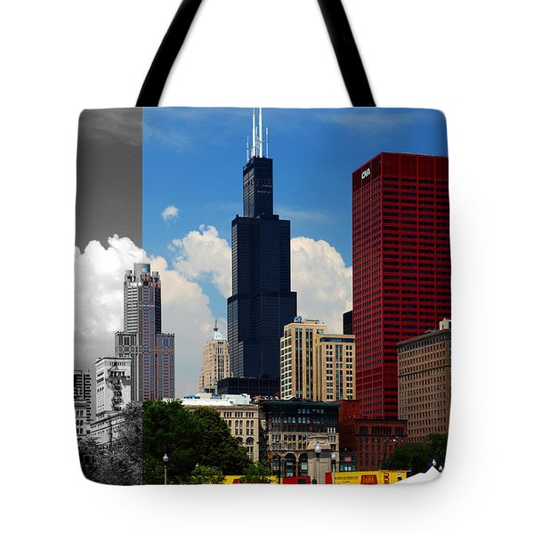 Chicago Skyline Sears Tower Tote Bag
