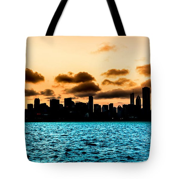 Chicago Skyline Silhouette Tote Bag