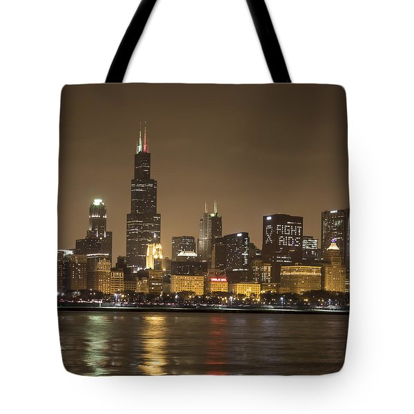 Chicago Skyline - World Aids Day 12/1/12 Tote Bag