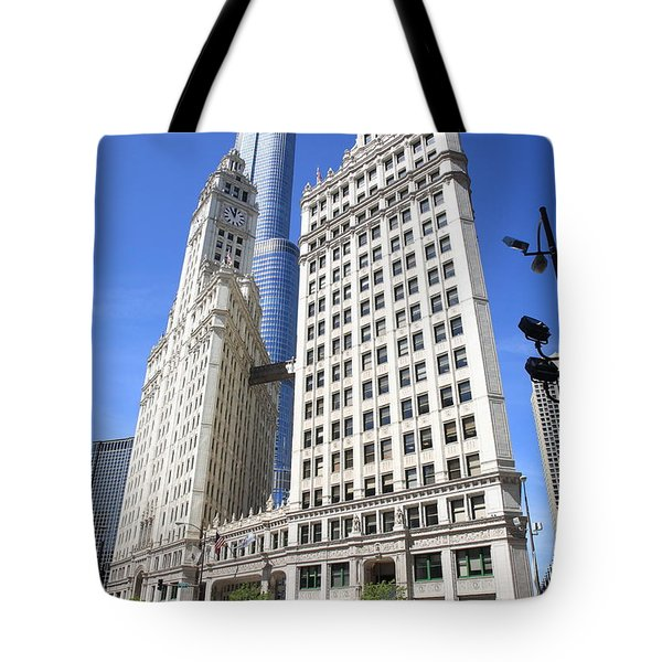 Chicago Skyscrapers Tote Bag by Frank Romeo
