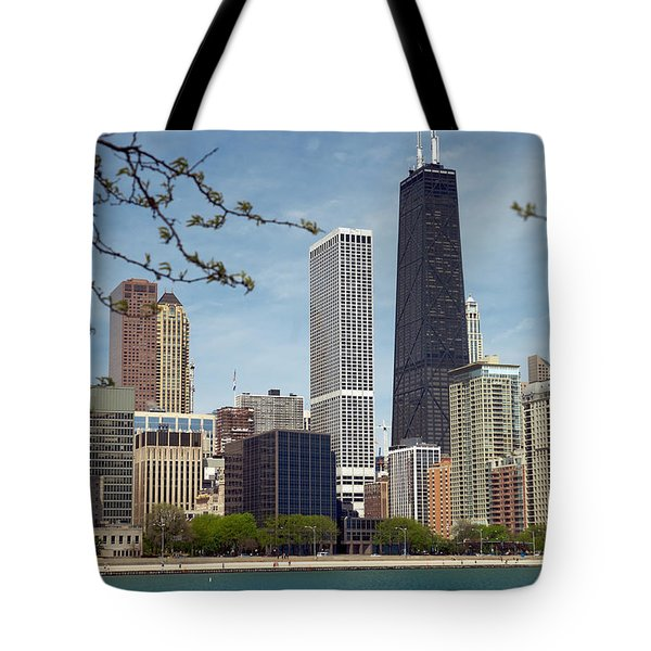 Chicago Spring Tote Bag by Lawrence Boothby
