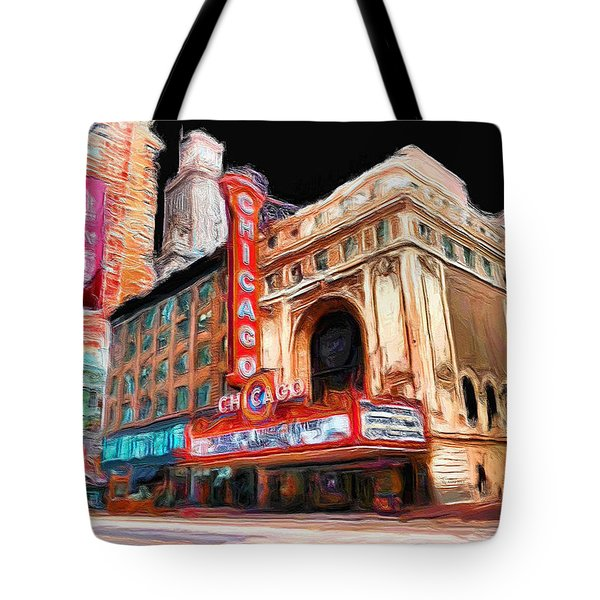 Chicago Theater - 23 Tote Bag by Ely Arsha