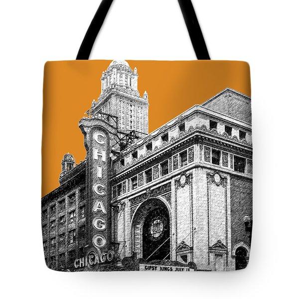 Chicago Theater - Dark Orange Tote Bag