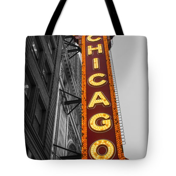 Chicago Theater Selective Color Tote Bag