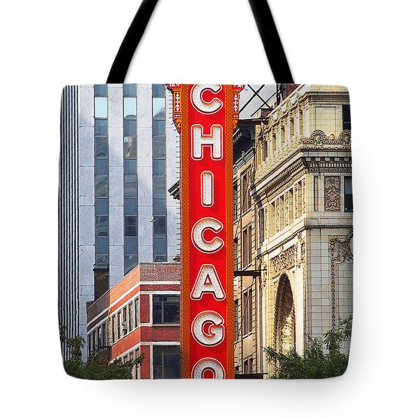 Chicago Theatre - A Classic Chicago Landmark Tote Bag