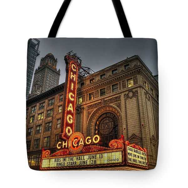 Chicago Theatre Hdr Tote Bag