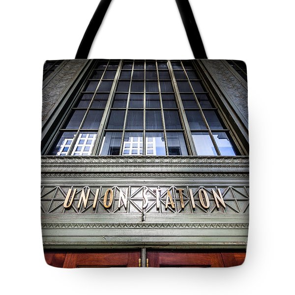 Chicago Union Station Sign And Entrance Tote Bag by Paul Velgos