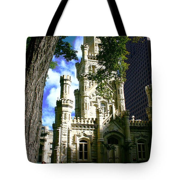 Chicago Water Tower Castle Tote Bag