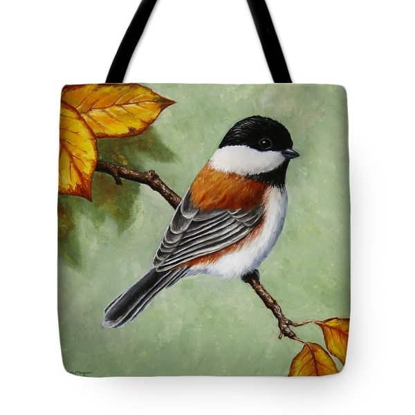 Chickadee - Autumn Charm Tote Bag