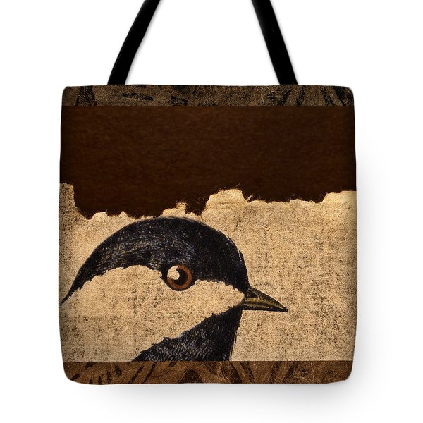 Chickadee Tote Bag by Carol Leigh