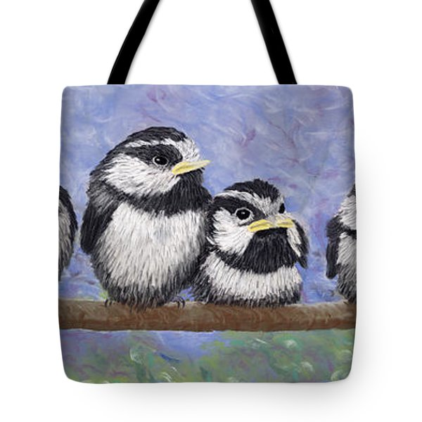 Chickadee Chicks Tote Bag