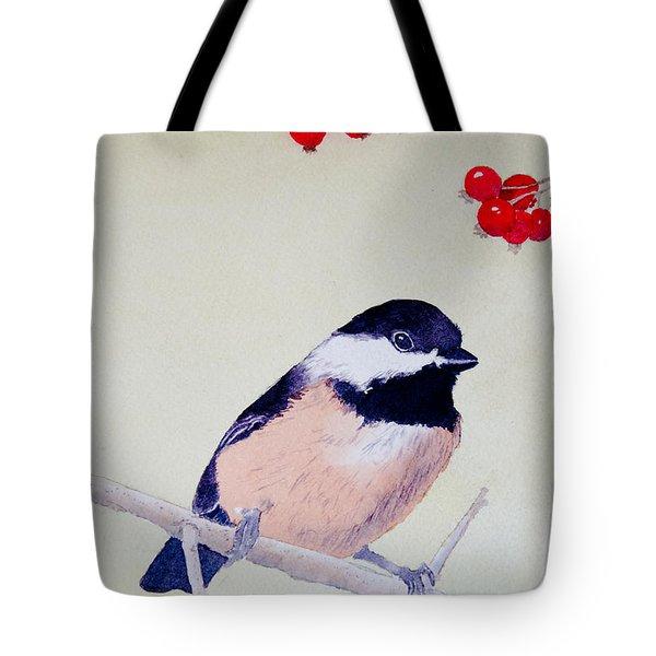 Chickadee Tote Bag by Laurel Best