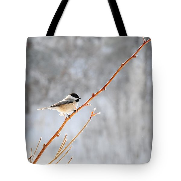 Tote Bag featuring the photograph Chickadee by Susie Rieple