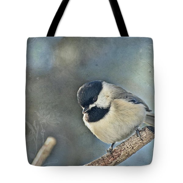 Chickadee With Texture Tote Bag