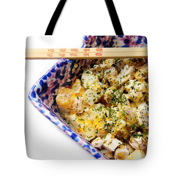 Chicken Cheese Potato Casserole Tote Bag by Andee Design