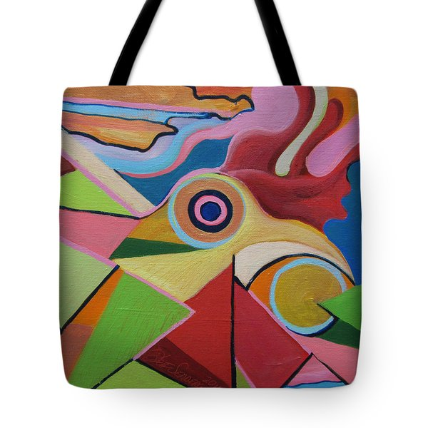 Chicken Fun Do Tote Bag
