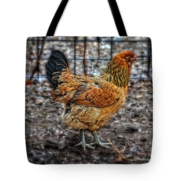 Chicken Tote Bag by Mary Machare