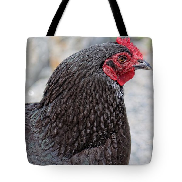 Chicken Profile Tote Bag by Denyse Duhaime