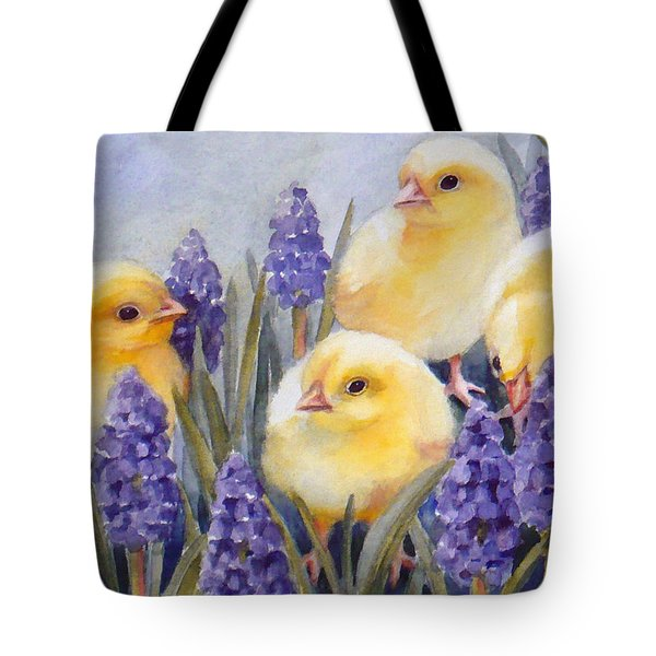 Chicks Among The Hyacinth Tote Bag