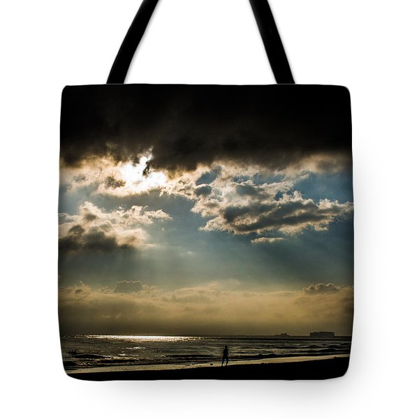Chick's Beach Morning Tote Bag by Angela DeFrias