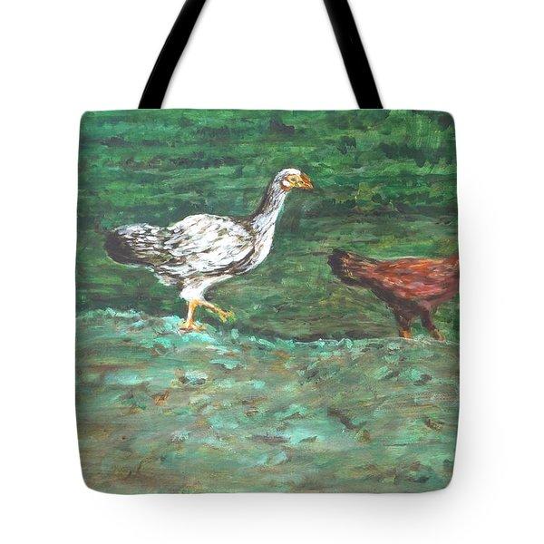 Chicks Tote Bag by Usha Shantharam