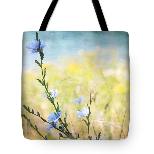 Tote Bag featuring the photograph Chicory By The Beach by Peggy Collins