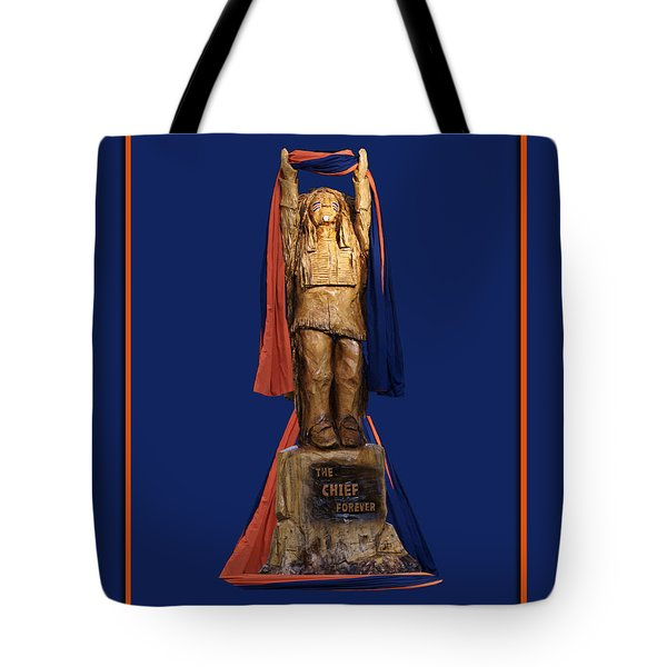 Chief Illiniwek University Of Illinois 05 Tote Bag