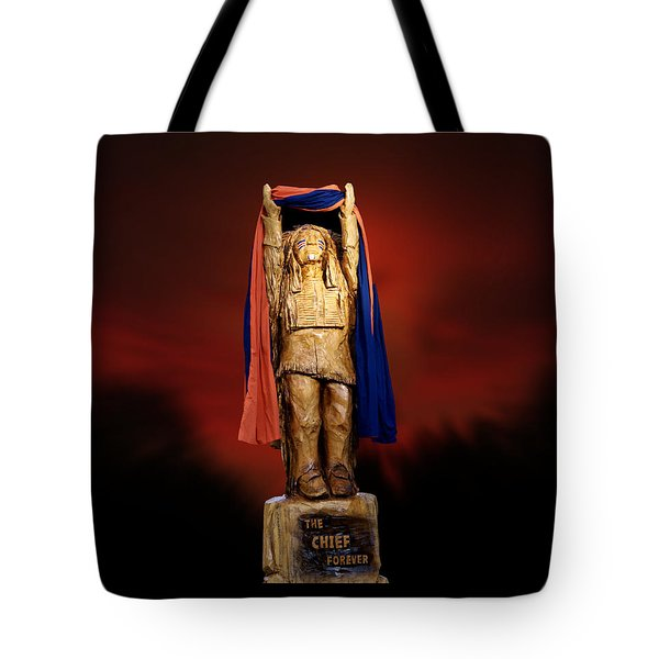 Chief Illiniwek University Of Illinois 06 Tote Bag