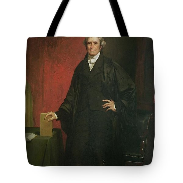 Chief Justice Marshall Tote Bag by Chester Harding