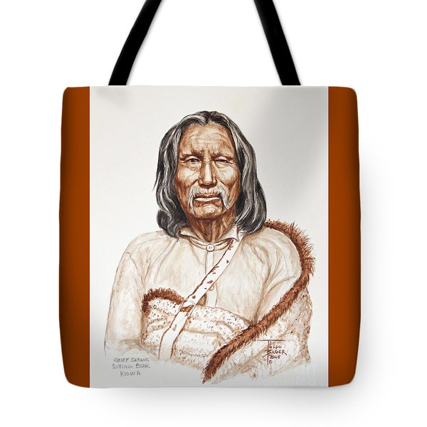 Chief Satnak - Kiowa Tote Bag