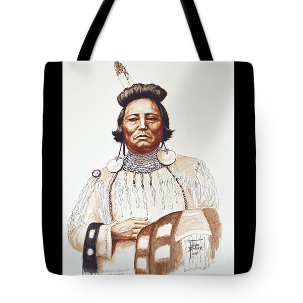 Chief Wolf Necklace Tote Bag