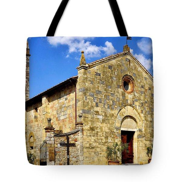 Tote Bag featuring the photograph Chiesa Di Santa Maria Assunta by Fabrizio Troiani