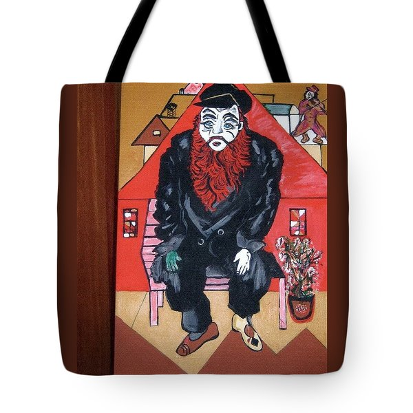Tote Bag featuring the painting Chigall By Nora by Nora Shepley