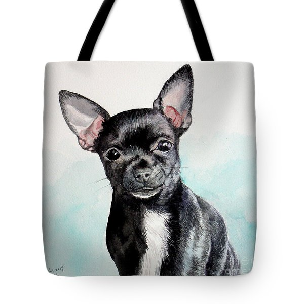 Chihuahua Black Tote Bag