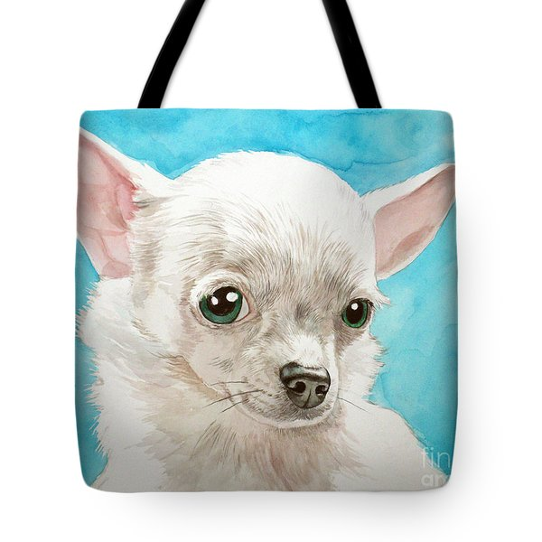 Chihuahua Dog White Tote Bag