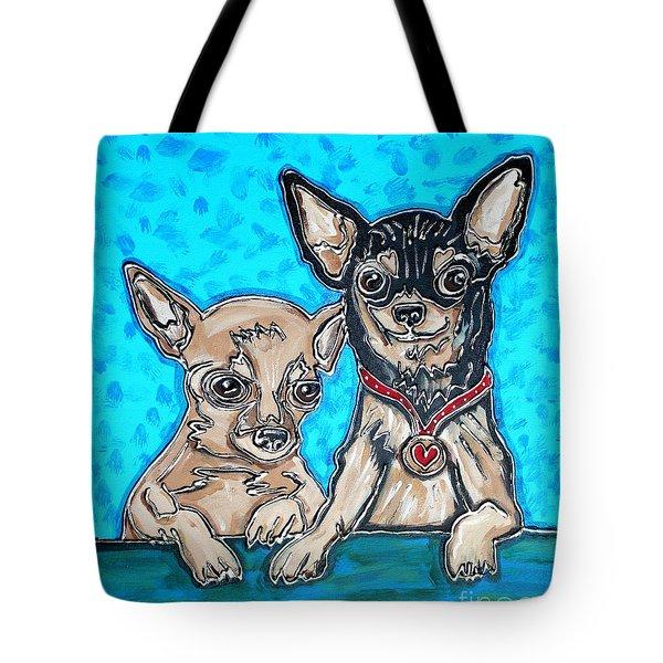 Chihuahua Duo Tote Bag
