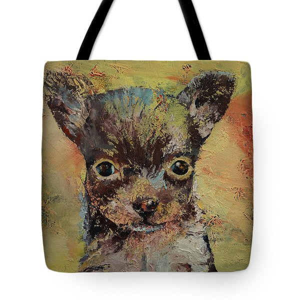 Chihuahua Tote Bag by Michael Creese