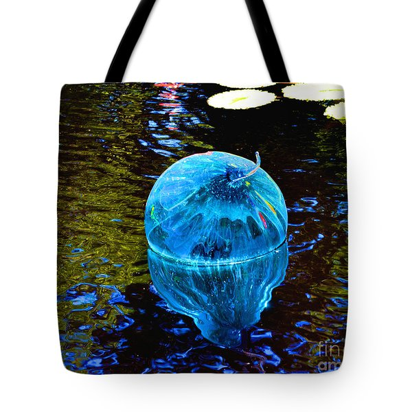 Artsy Blue Glass Float Tote Bag