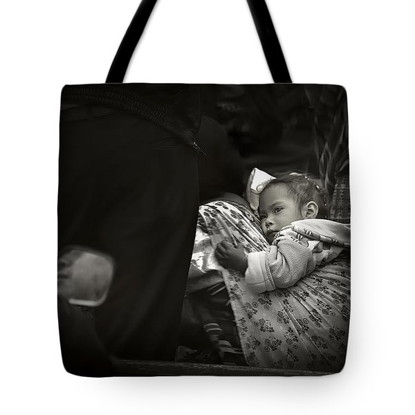 Child  On A Journey Tote Bag by Tom Bell