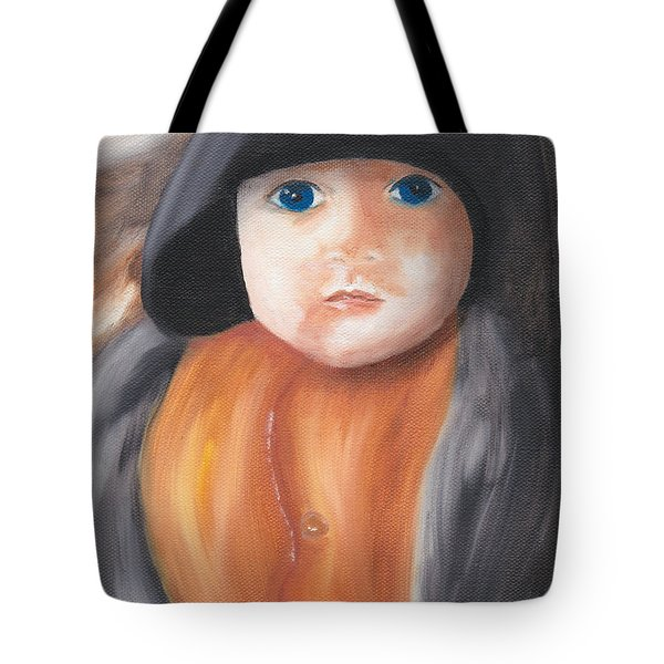 Child With Hood Tote Bag