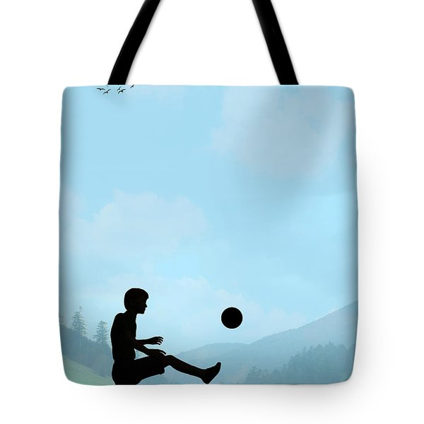 Childhood Dreams Football Tote Bag by John Edwards