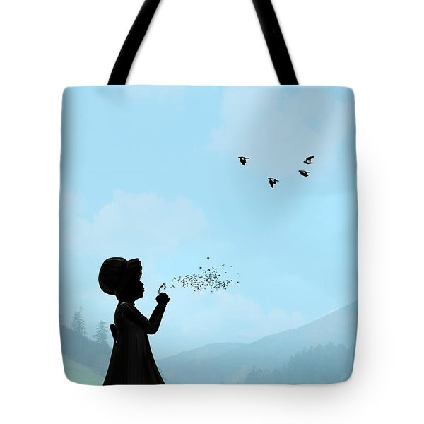 Childhood Dreams One O Clock Tote Bag by John Edwards