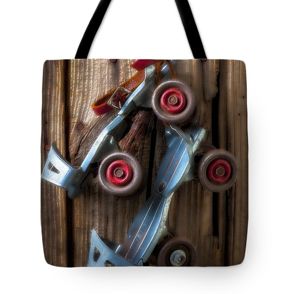 Childhood Skates Tote Bag by Garry Gay