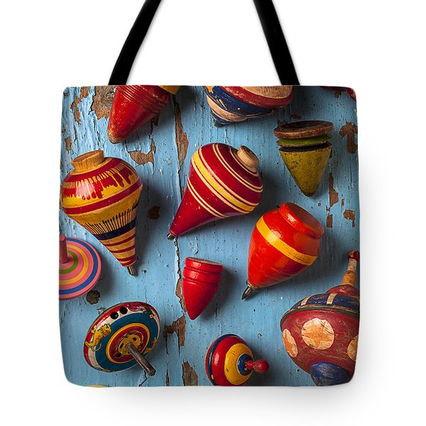 Childhood Tops Tote Bag by Garry Gay