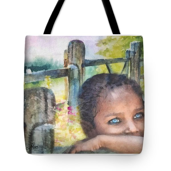 Childhood Triptic Tote Bag by Mo T