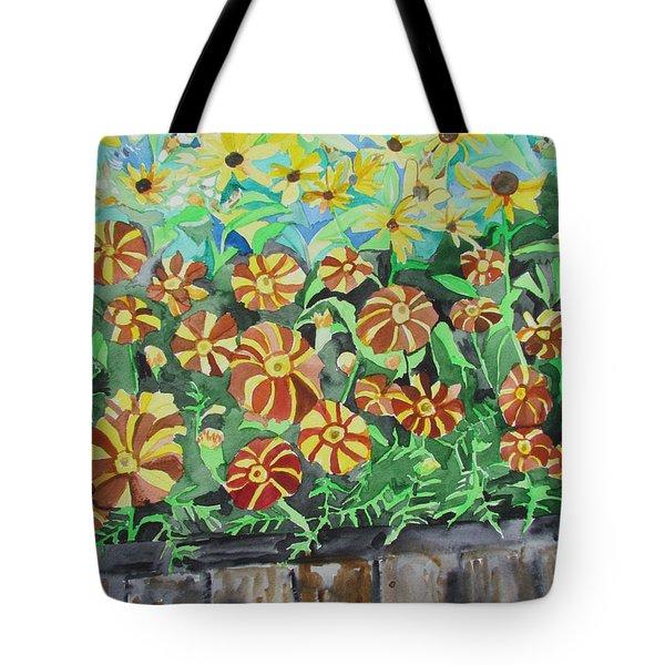 Childlike Flowers Tote Bag