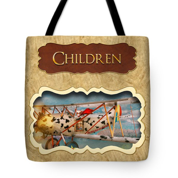 Children Button Tote Bag by Mike Savad