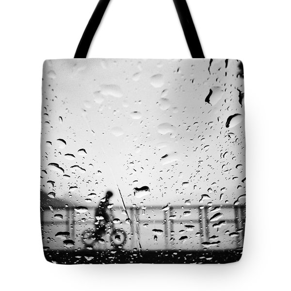 Children In Rain Tote Bag